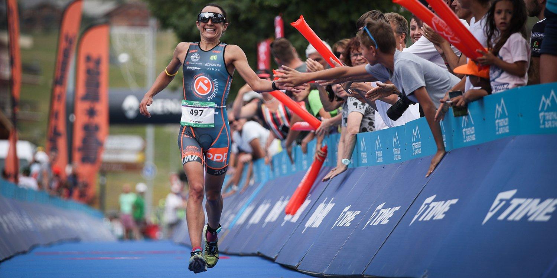 Anna Noguera win Duathlon Alpe d'Huez