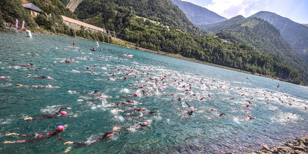 Triathlon Alpe d'Huez natation