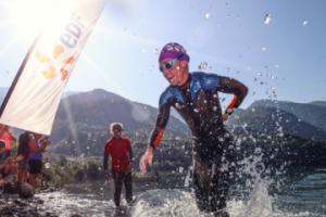 Start triathlon alpe d'Huez