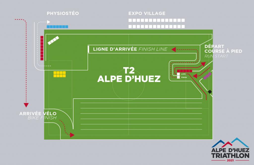 Finishline 2021 du Triathlon de l'Alpe d'Huez